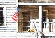 Front Porch Painting Framed Prints - The 5th of July Framed Print by William Beaupre