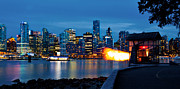 Blue Hour Prints - The 9 OClock Gun in Vancouver Print by Alexis Birkill
