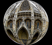 Star Pyrography Framed Prints - The Abbey in a Ball   Framed Print by Lugew Antes