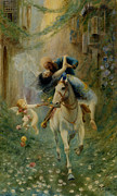 The Horse Digital Art Metal Prints - The Abduction in Cairo Metal Print by Fabbio Fabbi