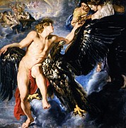 Rubens Metal Prints - The Abduction of Ganymede Metal Print by Pg Reproductions