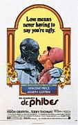 Movie Posters Photos - The Abominable Dr. Phibes  by Movie Poster Prints