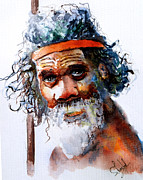 Tribes Paintings - The Aborigine by Steven Ponsford