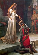 Knights Paintings - The Accolade by Edmund Leighton