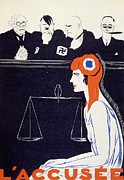 Patriotic Drawings Posters - The Accused Poster by Paul Iribe