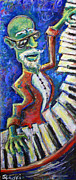 Piano Keys Painting Originals - The Acid Jazz Jam Piano by Jason Gluskin