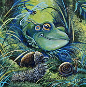 Gail Butler Framed Prints - The Acorn Framed Print by Gail Butler