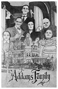 The White House Drawings Framed Prints - The Addams Family Montage Framed Print by Mark Harris