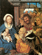 Magi Paintings - The Adoration of the Magi by Quentin Massys