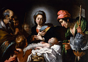 Bernardo Strozzi - The Adoration of the Shepherds by Bernardo Strozzi