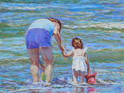 Beach Pastels Originals - The Adventure by Michael Camp