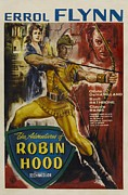 Errol Framed Prints - The Adventures of Robin Hood  Framed Print by Movie Poster Prints