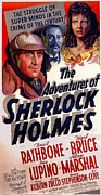 Release Digital Art Posters - The Adventures of Sherlock Holmes Poster by Studio Release