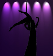 Silhouette Digital Art - the Aerialist by Lisa Knechtel