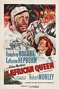 Hepburn Photos - The African Queen B by Movie Poster Prints