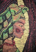 Figurative Tapestries - Textiles - The African Woman by Lukandwa Dominic