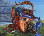 Surrealism Painting Originals - The Aftermath by Karen Musick