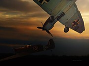 Ww2 Photographs Digital Art - The Air Battle Of Britain by Thomas Woolworth