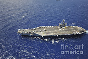 Supercarrier Prints - The Aircraft Carrier Uss Nimitz Print by Stocktrek Images