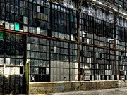 Window Panes Prints - The Albuquerque Rail Yards 001 Print by Lance Vaughn