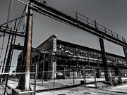 Window Panes Framed Prints - The Albuquerque Rail Yards 002 Framed Print by Lance Vaughn