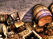 Winetasting Metal Prints - The Ale Cellar Seat Metal Print by Dan Stone