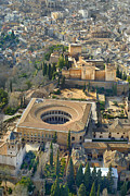 Cities Art - The Alhambra aerial by Guido Montanes Castillo