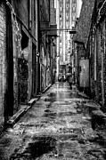 Puddle Prints - The Alleyway in Market Square - Knoxville Tennesse Print by David Patterson