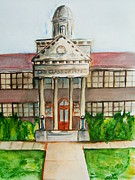 Mascot Painting Prints - The Alma Mater Class of 71 Print by Elaine Duras