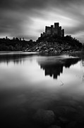Blackandwhite Photo Metal Prints - The Almourol castle Metal Print by Jorge Maia