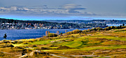 Us Open Art - The Amazing Chambers Bay Golf Course - Site of the 2015 U.S. Open Golf Tournament by David Patterson