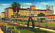 Ambassador Painting Prints - The Ambassador Hotel And Gardens In Los Angeles Ca 1930 Print by Dwight Goss