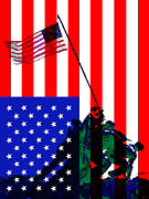 Pearl Digital Art - The American Flag Over Iwo Jima 20130210 by Wingsdomain Art and Photography