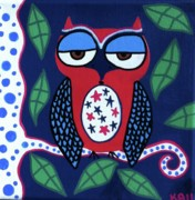 Owl Paintings - The American Owl by Kerri Ambrosino GALLERY