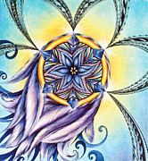Andrea Carroll Art - The Amethyst of Time by Andrea Carroll