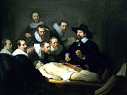 Rembrandt Posters - The Anatomy Lesson Poster by Rembrandt
