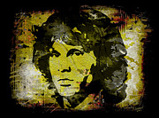 Jim Morrison Pastels Prints - The Anatomy of Rock Print by Rebelwolf
