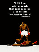 Boxing Photo Framed Prints - The Anchor Punch Framed Print by Mark Rogan