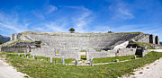 Greek Theater Framed Prints - The ancient theater at Dodoni Framed Print by Gabriela Insuratelu