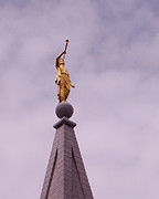 Temple Photos - The Angel Moroni by Rona Black