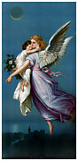 Seraphim Angel Painting Framed Prints - The Angel of Peace Framed Print by Terry Reynoldson