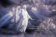 Angelic Posters - The Angel of the Lord Poster by Bonnie Barry