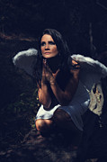 Angel Wings Photos - The Angel Prayed by Laurie Search