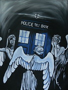 Police Paintings - The Angels Have the Phone Box by Lisa Leeman