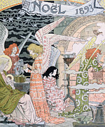 Wings Drawings Prints - The Angels Kitchen Print by Eugene Grasset
