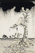 Bad Weather Prints - The Animals You Know Are Not As They Are Now Print by Arthur Rackham