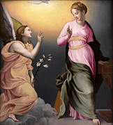 Famous Artists - The Annunciation by Bronzino