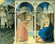 Fra Posters - The Annunciation Poster by Fra Angelico