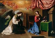 Famous Artists - The Annunciation by Francisco de Zurbaran