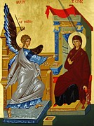 Byzantine Greek Icon Originals - The Annunciation by Joseph Malham